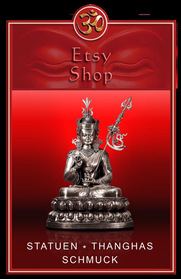 Buddhafigur vor rotem